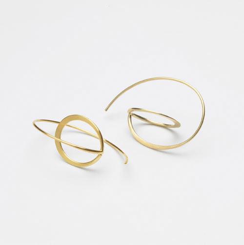 Ohrhänger schwebender Kreis 1
